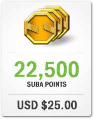 Purchase 22,500 Suba Points for USD $25.00