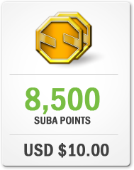 Purchase 8,500 Suba Points for USD $10.00